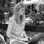 Girl and notebook